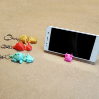 Small Keichain / Smartphone Stand  3D Printing 90685