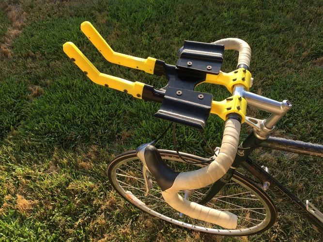 Bicycle Aero Bars and Water Bottle holder 3D Print 90811