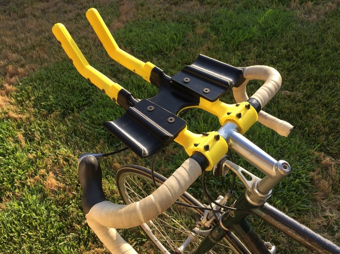 Bicycle Aero Bars and Water Bottle holder 3D Print 90812