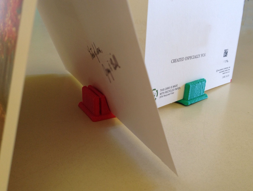 3d Printed Greeting Card Holderstand By Miked Pinshape