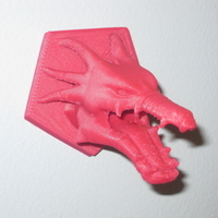 Small Mounted Dragon Head 3D Printing 90890