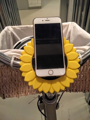 Sunflower iPhone 6 Bike Mount 3D Print 90897