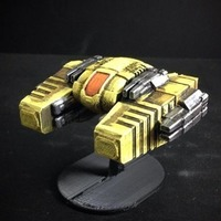 Small U.S.M. Interceptor (15mm scale) 3D Printing 90993