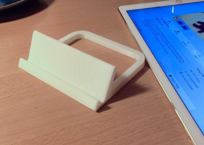 Simple iPad Pro Stand 3D Print 91136