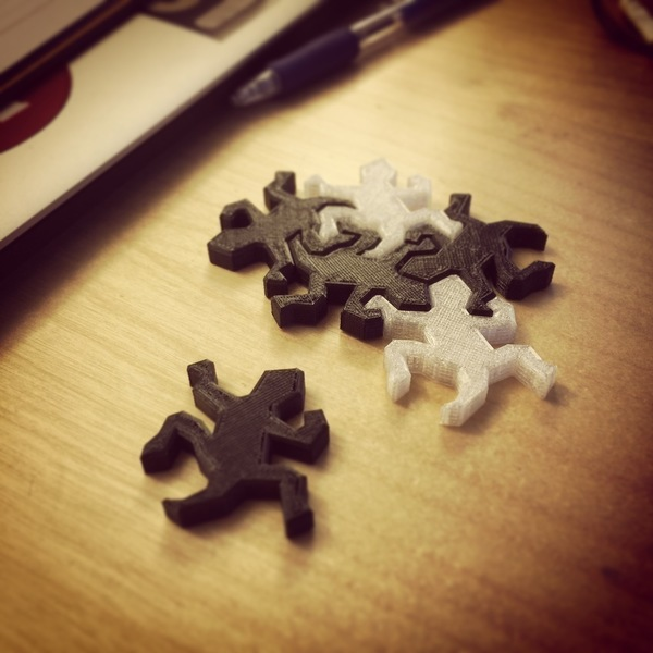Medium Rep-tile Escher puzzle piece 3D Printing 91150