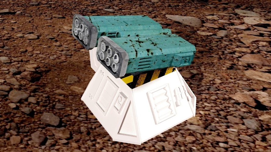 Missile add-on for Outpost WH40K scale 3D Print 91165