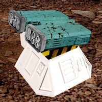 Small Missile add-on for Outpost WH40K scale 3D Printing 91165