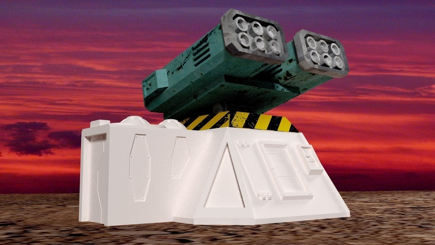 Missile add-on for Outpost WH40K scale 3D Print 91167