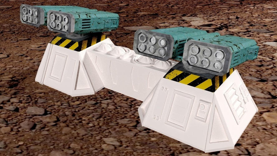 Missile add-on for Outpost WH40K scale 3D Print 91171