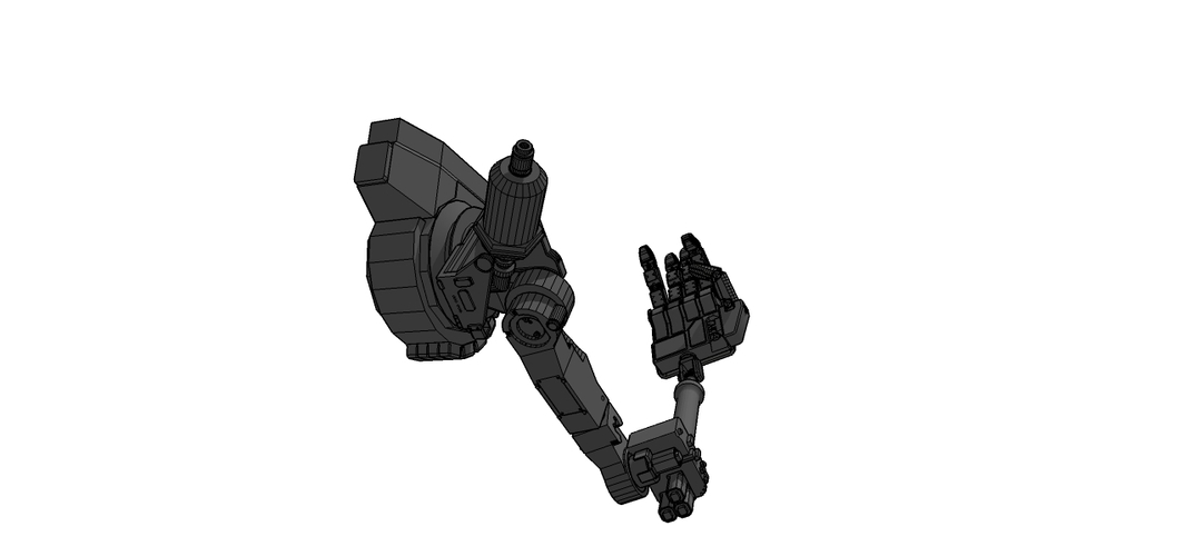 mech 01 right arm 3D Print 91253