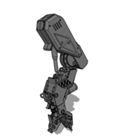 Small MECH 01 left leg 3D Printing 91279
