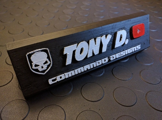 Customizable Nameplate Project w/ How to Video - HD 3D Print 91466