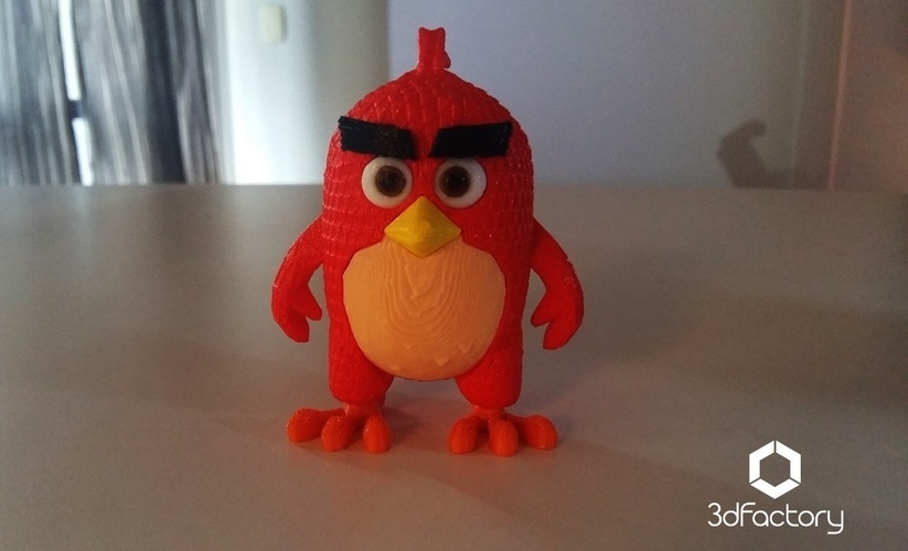 Angry Bird Red - 3dFactory - 3dPrintable 3D Print 91527