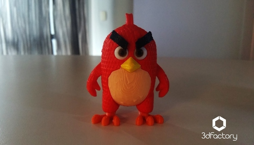 Angry Bird Red - 3dFactory - 3dPrintable 3D Print 91528