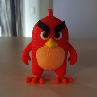Small Angry Bird Red - 3dFactory - 3dPrintable 3D Printing 91528