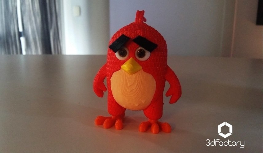 Angry Bird Red - 3dFactory - 3dPrintable 3D Print 91529