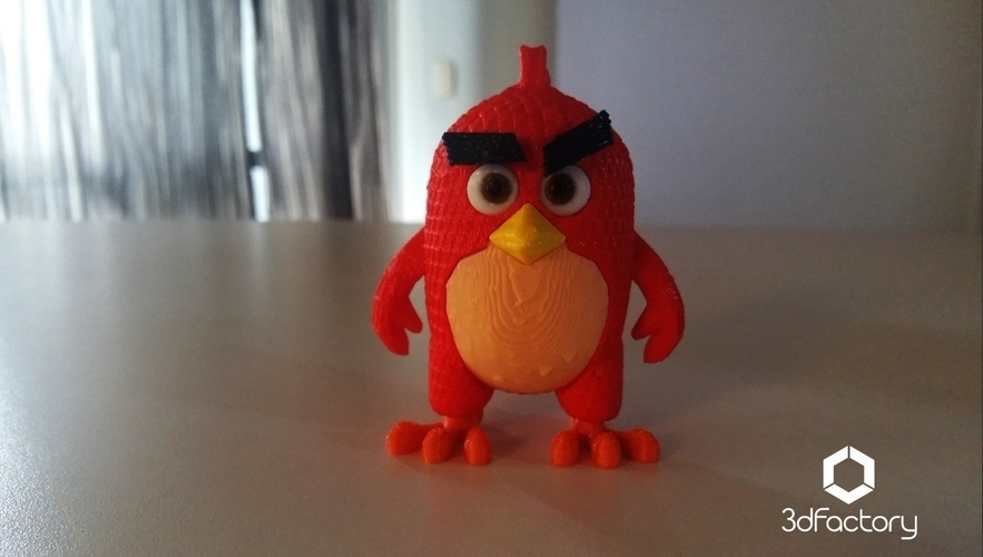 Angry Bird Red - 3dFactory - 3dPrintable 3D Print 91530