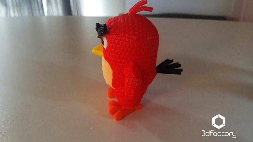 Angry Bird Red - 3dFactory - 3dPrintable 3D Print 91531