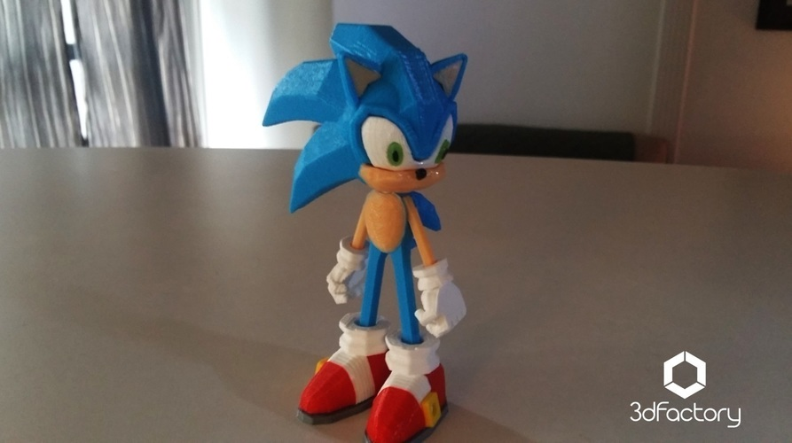 Sonic - 3dPrint - 3dFactory 3dPrintable ZERO Support 3D Print 91534