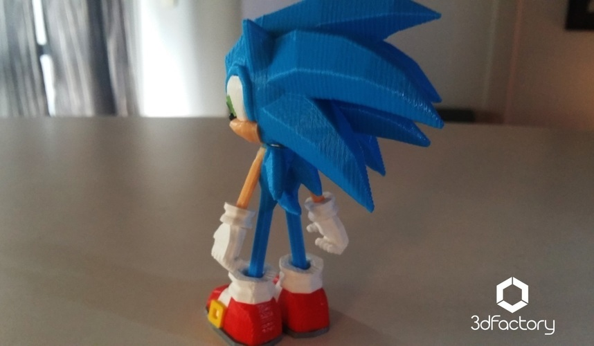 Sonic - 3dPrint - 3dFactory 3dPrintable ZERO Support 3D Print 91535