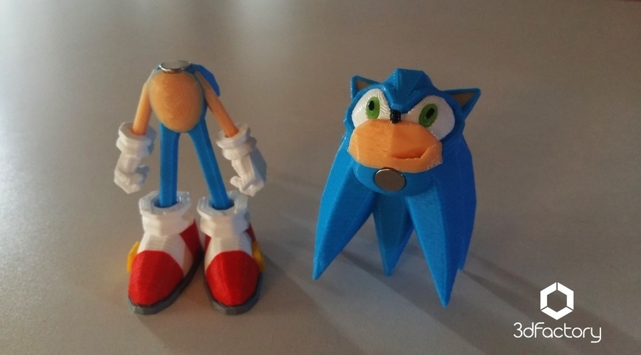 Sonic - 3dPrint - 3dFactory 3dPrintable ZERO Support 3D Print 91536