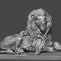 Small Lion Statue 3D Printing 91573