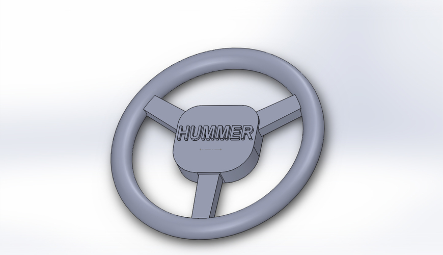 Hummer H1 -  steering wheel 1/10 RC 3D Print 91616
