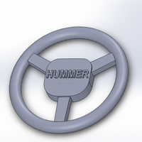 Small Hummer H1 -  steering wheel 1/10 RC 3D Printing 91616