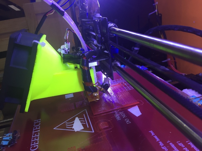3D Printed E3D,CHIMERA,GEEETECH I3 M201 DUCT FAN COOLER by