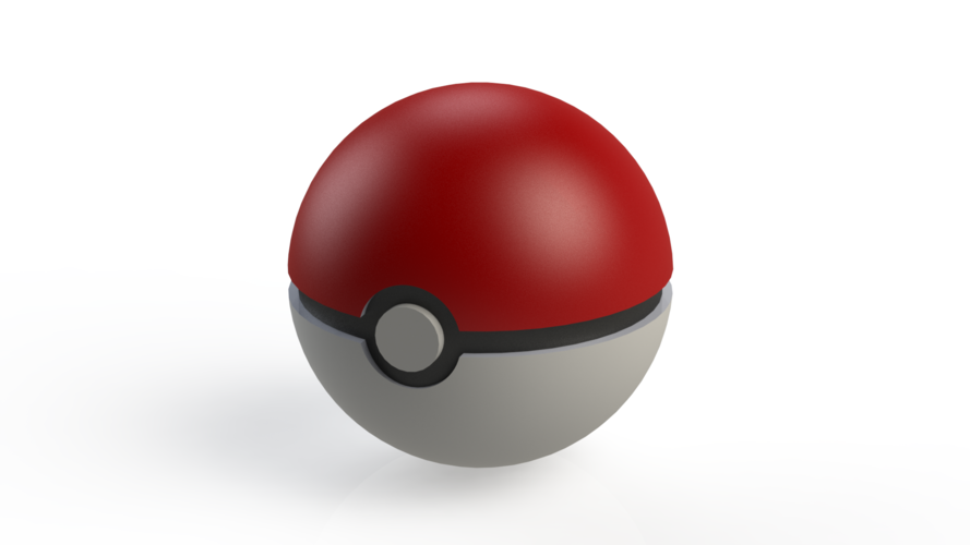 Small Pokeball For Cosplay 3D Print 91838