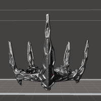 Small corrupted spike crown 3D Printing 91873