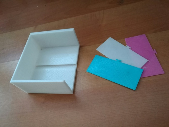 Card Organizer with Separators 3D Print 91918