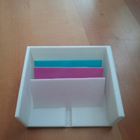 Small Card Organizer with Separators 3D Printing 91919
