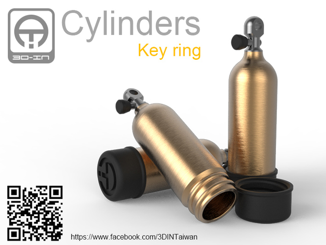 Cylinders [Key ring] 3D Print 91929