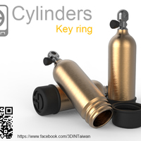 Small Cylinders [Key ring] 3D Printing 91929