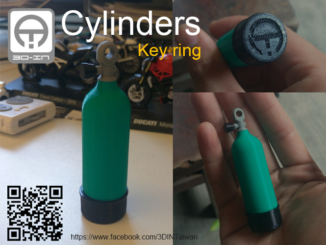 Cylinders [Key ring] 3D Print 91930