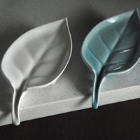 Small Leaf: Self-Draining Soap Dish 3D Printing 92024