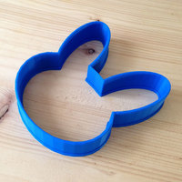 Small Bunny Cookie Cutter 3D Printing 92033