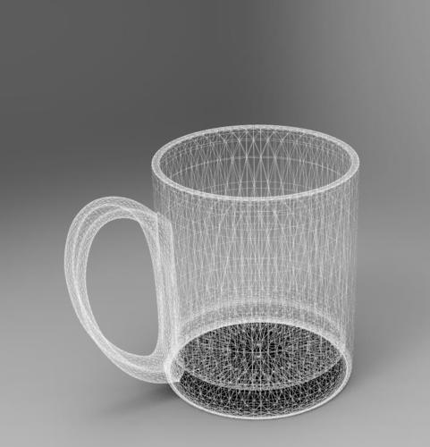 3D Printed Plastic Cup By Zhuge_ge