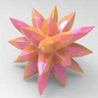 Small thorny ball 3D Printing 92055