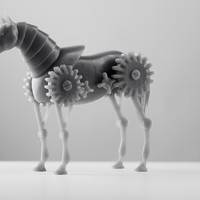 Small Geared Robotic Horse 3D Printing 92082