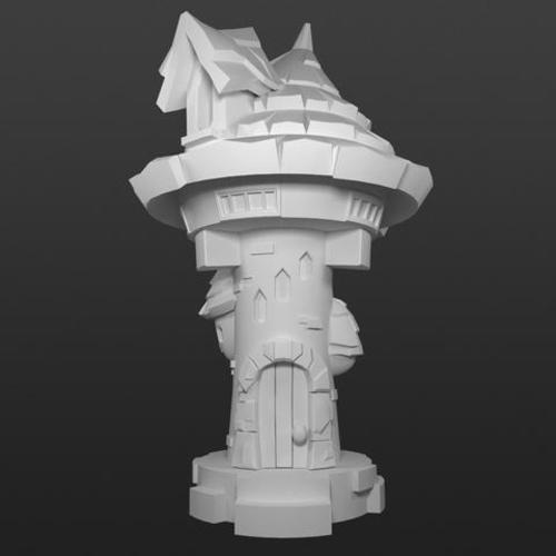 Elemental Village - Arcane Library 3D Print 92229
