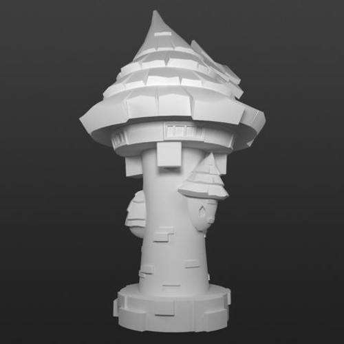 Elemental Village - Arcane Library 3D Print 92230