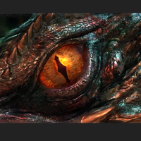 Small The Hobbit: Smaug's Eye -High Resolution-  98.5MB 3D Printing 92334
