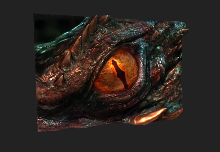 The Hobbit: Smaug's Eye -Low Resolution 3D Print 92336