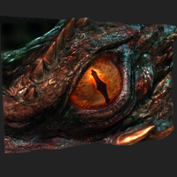 Small The Hobbit: Smaug's Eye -Low Resolution 3D Printing 92336
