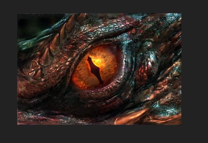 The Hobbit: Smaug's Eye -Low Resolution 3D Print 92337