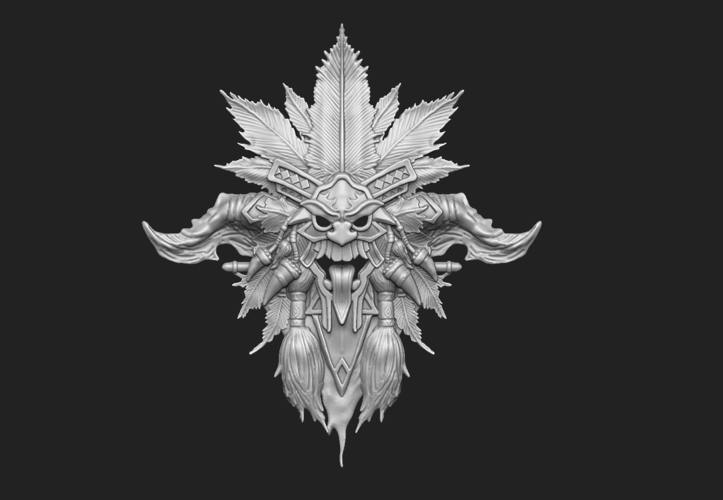 Diablo- Witch Doctor- Crest 3D Print 92427
