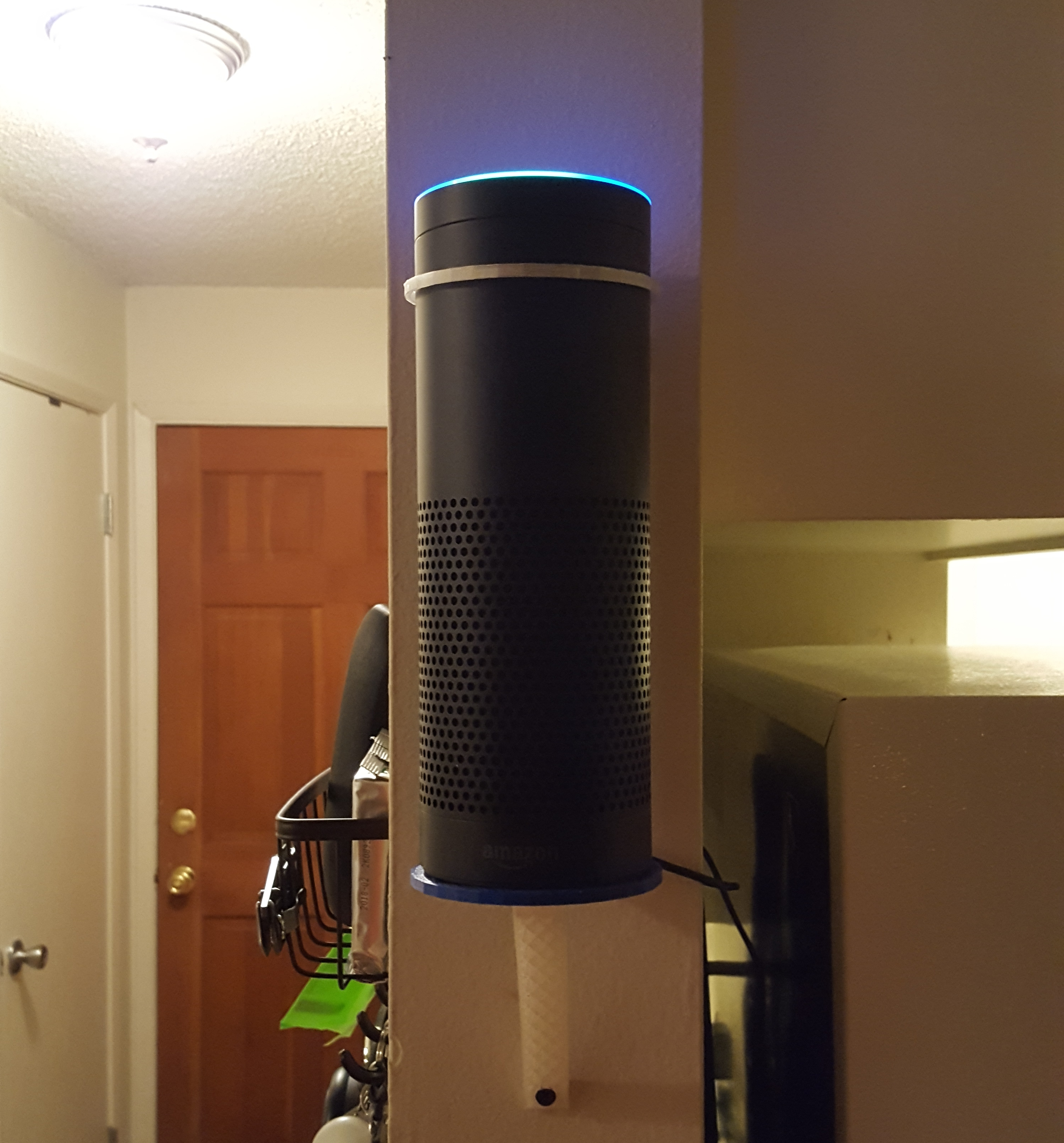Lifetime warranty!Amazon Echo tube wallceiling mount,with mounting screws.High Quality 3D printed,free shipping