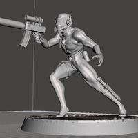 Small Assassin 28mm-32mm 3D Printing 92456